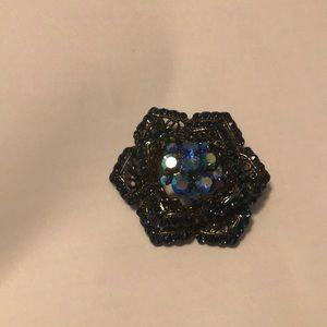 Blue flower pin